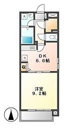 愛知県名古屋市中村区太閤通5の賃貸マンションの間取り