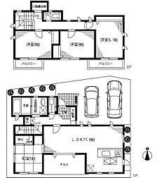 [一戸建] 埼玉県蕨市北町3丁目 の賃貸【/】の間取り
