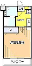 東京都小平市小川町2丁目の賃貸マンションの間取り