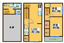 [一戸建] 大阪府大阪市東住吉区針中野1丁目 の賃貸【/】の間取り