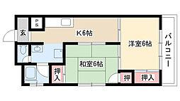 愛知県名古屋市南区駈上2丁目の賃貸マンションの間取り