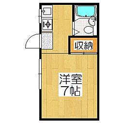 京都府京都市山科区上野寺井町の賃貸アパートの間取り