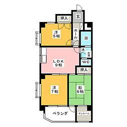 エスプラネードIII[3階]の間取り