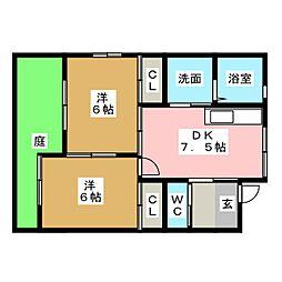 [一戸建] 愛知県春日井市妙慶町2丁目 の賃貸【/】の間取り