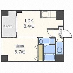 北海道札幌市中央区大通西20丁目の賃貸マンションの間取り