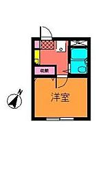 ハッピーマンション南行徳[3階]の間取り