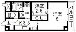 K.bld(ケービル)[302号室号室]の間取り