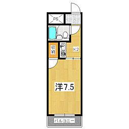 アピア御陵[2階]の間取り