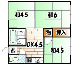 塩崎アパート[2階]の間取り