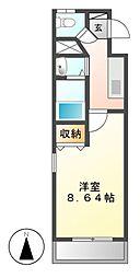 カスタリア名駅南[9階]の間取り