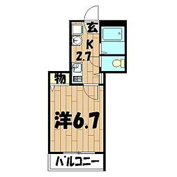 メゾンさくら(本宿町)[102号室]の間取り