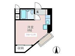 東京都府中市美好町1丁目の賃貸マンションの間取り