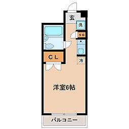 メゾン・ド・リテレール[4階]の間取り
