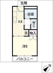 L・NISHIKI[2階]の間取り