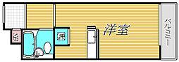 東京都世田谷区三宿2丁目の賃貸マンションの間取り