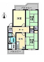 レクシス木太町[4階]の間取り