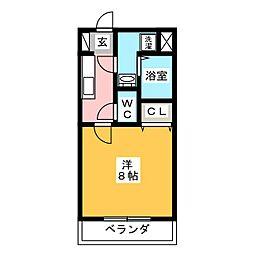 リヴエターナル[1階]の間取り