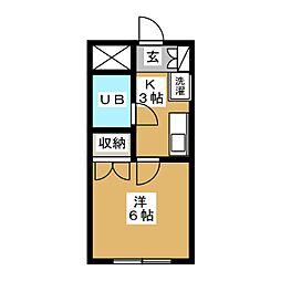あさみビル[3階]の間取り