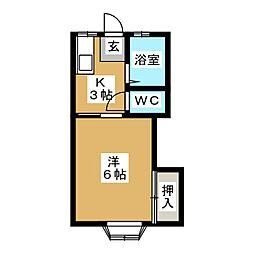 千寿荘2号館[1階]の間取り