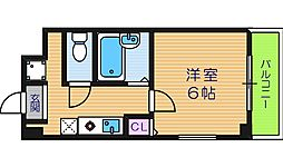 大阪府大阪市阿倍野区西田辺町2丁目の賃貸マンションの間取り
