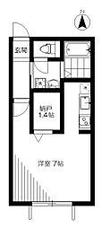 東京都練馬区豊玉北4丁目の賃貸アパートの間取り