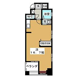 愛知県名古屋市東区泉1丁目の賃貸マンションの間取り