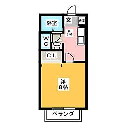 サン・friends惣堀[2階]の間取り