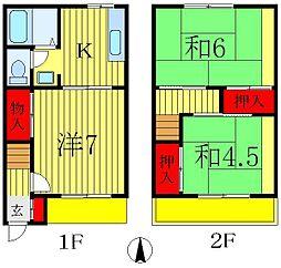 [テラスハウス] 千葉県松戸市栄町5丁目 の賃貸【/】の間取り