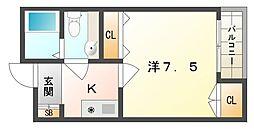 アークハウスII[4階]の間取り