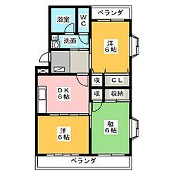 トルナーレK[2階]の間取り
