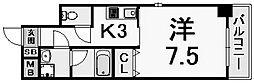 W.O.B西宮レジデンス[7階]の間取り