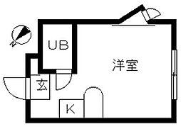 神奈川県横浜市旭区四季美台の賃貸アパートの間取り