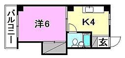 コーポ福原[305 号室号室]の間取り