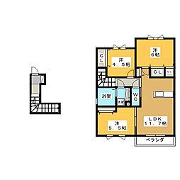 グランビューソニック B棟[2階]の間取り