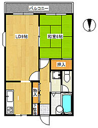 セントラルマンションII[203号室]の間取り