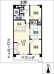 プレステージ[1階]の間取り