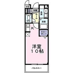 サンクレール 北花田[1階]の間取り