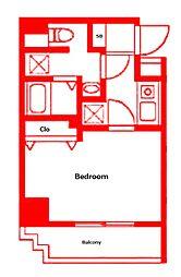(仮称)反町3丁目マンション 4階1Kの間取り
