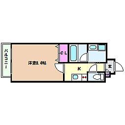 兵庫県神戸市灘区赤坂通1丁目の賃貸マンションの間取り