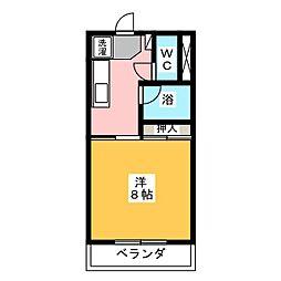 エミュHIRATA[3階]の間取り
