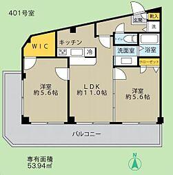 モアエミネンス西新宿[401号室号室]の間取り