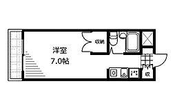 神奈川県相模原市中央区矢部3丁目の賃貸アパートの間取り