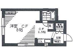 シャトレーヌ調布[1階]の間取り