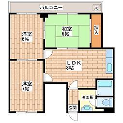 ニッコープラザ平野[7階]の間取り