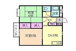 けらっぽ[1階]の間取り