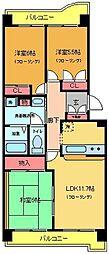 サンモール東綾瀬[802号室]の間取り