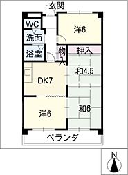 ベルコート松井[2階]の間取り