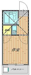 生活保護受給者支援賃貸アパート サンハウスマツオ[205号室号室]の間取り