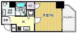 ファーストステージ京町堀レジデンス 9階1Kの間取り