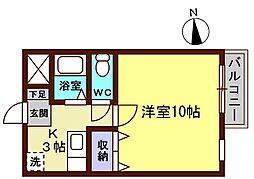 セサII[3-D号室]の間取り